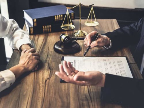 professional discussing legal matters