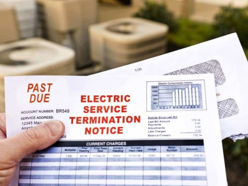 late utility bill shut off notice
